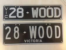 Hotrod Woody VIC Number plates