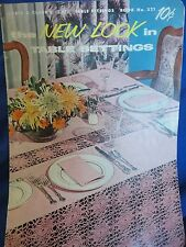 Vintage Crochet Pattern Book New Look In Table Settings Table Cloths And More