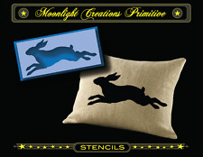 """Stencil~EASTER BUNNY ON THE RUN~4.5"""" H x 10"""" W~Vintage Style Easter Bunny"""