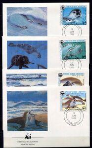 S3695) Mauritanie 1986 MNH Wwf, Monachus 4v FDC