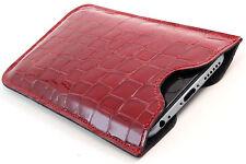 NOKIA LUMIA 640 Custodia cellulare in pelle lusso case borsa rosso ETUI