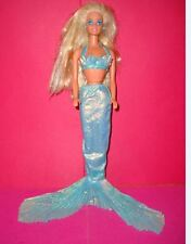 poupée barbie 1993 sirène BARBIE RARE ✿ FOUTAIN MERMAID SIRENE bleu 1993