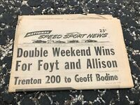 AUG 25 1971 NATIONAL SPEED & SPORTS NEWS car racing newspaper - FOYT ALLISON