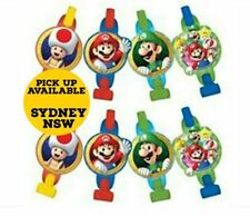 Super Mario Brothers Blowouts Blowers Birthday Party Favours Supplies Pack of 8