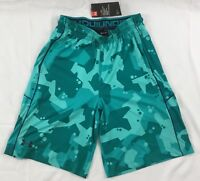 Under Armour MEN'S Athletic Shorts Loose Heat Gear Green Print 1291322 Size L