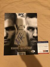 "Khabib ""The Eagle""  Nurmagomedov Signed 8x10 Photo UFC MMA Autograph PSA/DNA"