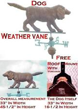 Weather Vane 3D (Full Body) Copper Dog Weather Vane With Free Roof Mount.