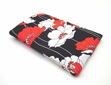 """KINDLE SLEEVE CASE POUCH ~ HANDMADE RED POPPY ~ 7 7/8""""L X 5 1/8""""W ~ NEW"""