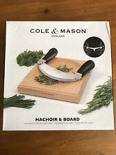 Cole & Mason Hachoir & Board Gift Set Beech & Stainless Steel NEW