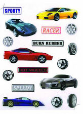 SPORTS CAR, EMBELISHMENT, BUBBLE STICKERS, CARDMAKING, SCRAPBOOKING & CRAFTS