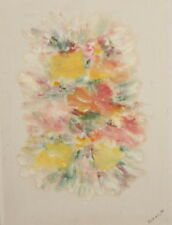 1997 Impressionist floral oil painting signed