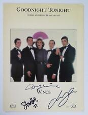 "PAUL McCARTNEY & WINGS Signed Autograph ""Goodnight Tonight"" Sheet Music by 3"