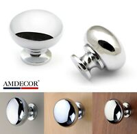 Amdecor N11014 Kitchen Cabinet Knob Pull Handle Chrome Plated Bright ModernStyle
