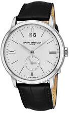 Baume & Mercier Men's Classima White Dial Leather Strap GMT Quartz Watch A10218