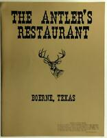 1960's The Antler's Restaurant Original Vintage Menu Boerne Texas