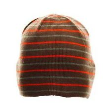 Nordica Stripes Brown Beanie One Size Fits All NEW !!