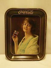 """VINTAGE 1923 COCA-COLA """"FLAPPER PARTY GIRL"""" METAL SERVING TRAY """"DRINK COCA-COLA"""