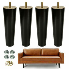 8'' Wood Furniture Legs Replacement Black Sofa Table Dresser Restoration 4pcs