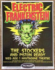 ELECTRIC FRANKENSTEIN 2012 Gig POSTER Portland Oregon Concert