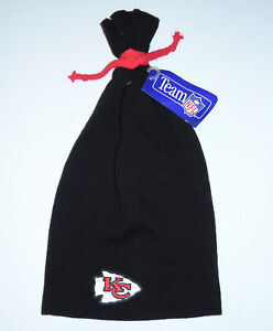 Cap Beanie Hat Vintage 90s Kansas City Chiefs NFL Football Knit Tie Tupac NEW
