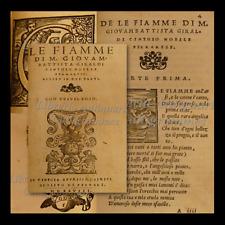 Rara Edizione Originale LE FIAMME di Giovambattista GIRALDI CINZIO 1548 Venezia