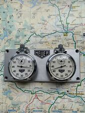 Dashboard Rally Timer Panel Fitted With Two Removeable Mechanical Stopwatches