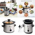 Small Slow Cooker Stainless Steel Crock Pot Mini Kitchen Appliance Portable New photo