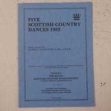 rscds FIVE SCOTTISH COUNTRY DANCES 1982