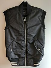 New Unisex All Saints Bomber Gillet Jacket XS Anika Black RRP £198 Asos