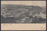 CZE 33455) AK Aussig an der Elbe Ústí nad Labem 1906 Bodenbach gelaufen