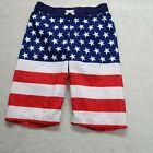 Cat & Jack USA American Flag Patriotic Swim Suit Trunks Shorts Boys Size XL (16)