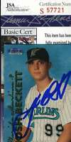 Josh Beckett 1999 Fleer Rookie JSA Coa Autograph Authentic Hand Signed