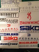 Gun Stickers Lot of 24 Firearms Decals Pack Browning Marlin Beretta CZ HK S&W SK