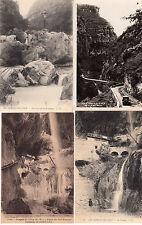 Lot 4 cartes postales anciennes GORGES DU LOUP