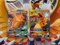 Pokémon Card Lot 2x - Charizard GX 9/68 + SM211 Hidden Fates Holo Ultra Rare