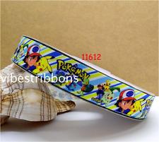 1 yard (90cm) Pokemon 22mm Ribbon, Gift Decoration, DIY Bow / Hair Clip