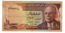Tunisie TUNISIA Billet 1/2 DINAR  1972 P66  BOURGUIBA  BON ETAT