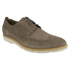 GAMBESON DRESS MENS CLARKS SUEDE LACE UP LIGHTWEIGHT BROGUE FORMAL SHOES SIZE