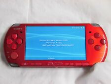 V3150 Sony PSP 3000 console Radiant Red Handheld system Japan w/battery English