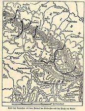 1914 Kampf in Galizien-Karpathen * Skizze des russischen Einbruchs *  WW1