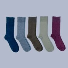 Men's Flat Knit Dress Crew Socks 5 pack Goodfellow & Co Size 7-12 Multicolor NEW