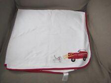 vtg 2005 Gymboree Baby Boy Cotton Blanket Firetruck Fire Truck Engine Dalmatian