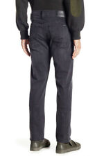 Hudson Blake Slim Zip Fly Straight Leg Jeans Size 34 Buzz Hype (faded Black)
