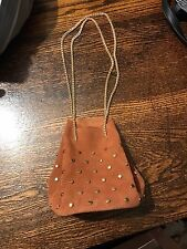 New Free People Suede Small Bag Gold Handles