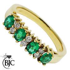 Diamond Oval Yellow Gold 18 Carat Fine Rings