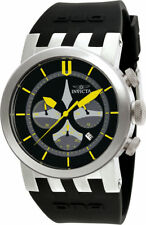 Invicta Men's DNA Chrono 100m Stainless Steel Black Silicone Watch 10398