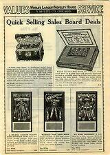 1929 PAPER AD 10 Pg Gillette Razor Sales Board Trade Board Pocket Knife Wallet +