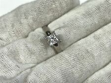 1 Ct Princess Solitaire Engagement Wedding Promise Ring 14K White Gold Over