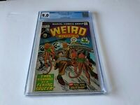 WEIRD WONDER TALES 2 CGC 9.0 KIDNAPPED BY A FLYING SAUCER MARVEL COMICS 1974