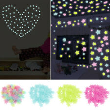 US 100X Glow In The Dark Plastic Luminous Stars Stickers Ceiling Bedroom Art New